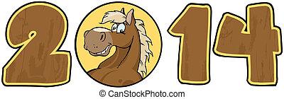 2014 Year Wood Cartoon Numbers