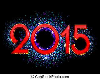 2015, ευτυχισμένος , καινούργιος , φόντο , έτος