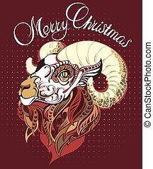 2015, καινούργιος , goat, κινέζα , έτος