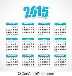 2015, カレンダー