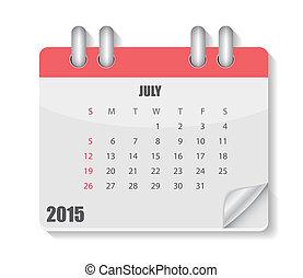 2015, カレンダー, ベクトル, イラスト, 年