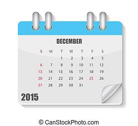 2015, カレンダー, ベクトル, year., イラスト
