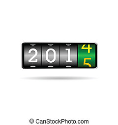 2015, 新しい, カウンター, イラスト, 年