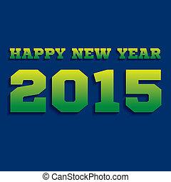 2015, 新しい, 創造的, デザイン, 年