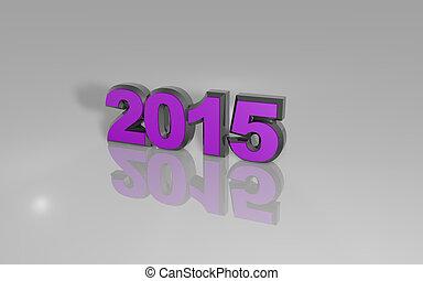 2015, 新しい, 幸せ, 年