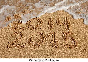 2015, 新しい, 概念, 年, 到来