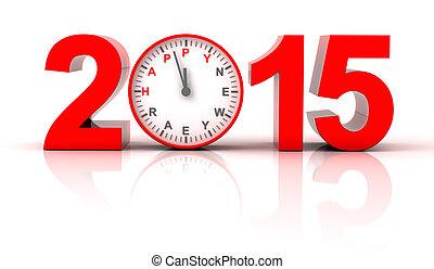 2015, 新年快樂, 由于, 時鐘被套料