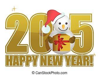 2015, 新年快樂, 雪人, 簽署
