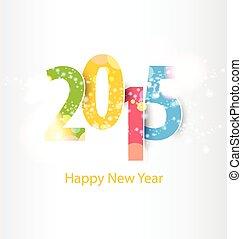 2015, 新, 开心, 年