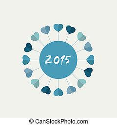 2015, 新, card., 年