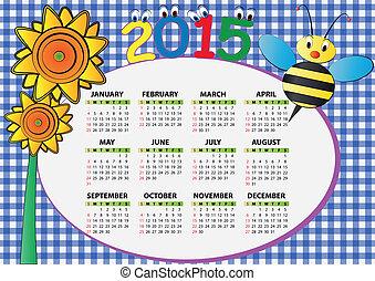 2015, 蜂, そして, ひまわり