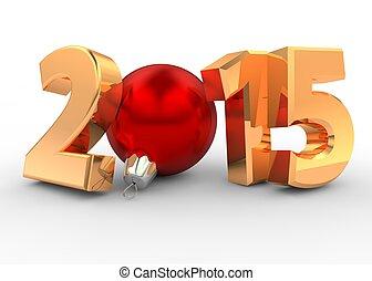 2015, 飾られる, -, 数字, beautifully