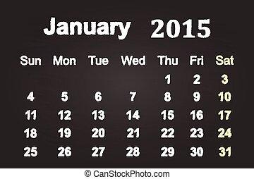 2015, 1 月, 月