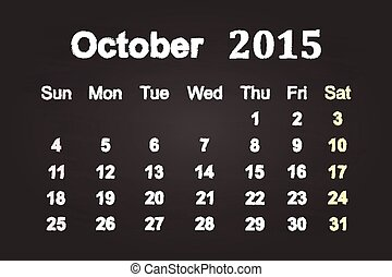 2015, 10 月, 月