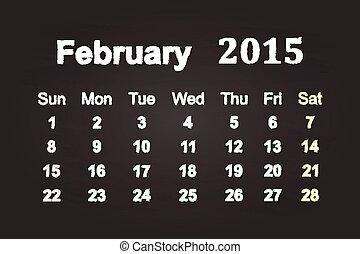 2015, 2 月, 月