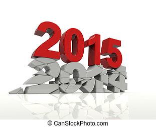2015, 2014, stary nowy, rok