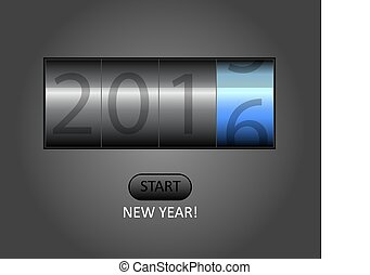 2015-2016 change represents the new year 2016. New year 2016 Text Design with counter.