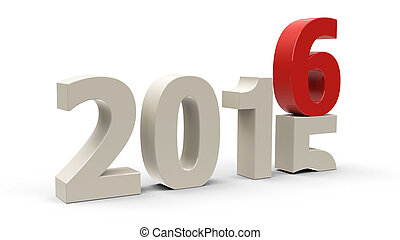 2015-2016 change represents the new year 2016,...