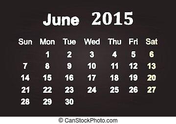 2015, 6月, 月
