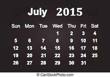 2015, 7月, 月