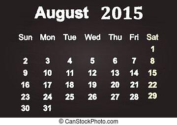 2015, 8月, 月