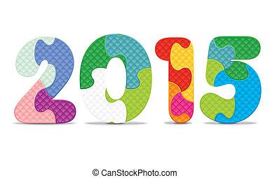 2015, alphabet, puzzle, fait