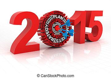 2015, alvo, negócio, render, 3d
