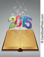 2015, antico, libro