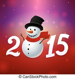 2015 background with snowman