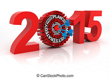 2015, bersaglio, affari, render, 3d