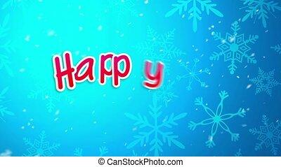 2015, bleu, heureux, nouveau, salutation, année