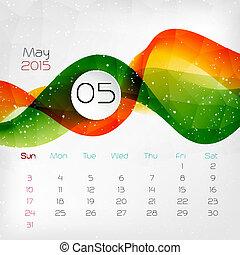 2015 Calendar. May. Vector illustration