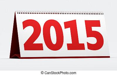 2015 calendar on white