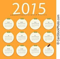 2015, calendar., vector, illustration.