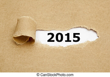 2015, carta lacerata