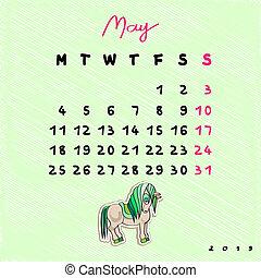 2015, chevaux, mai
