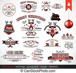 2015 Christmas decoration set of calligraphic