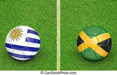 2015 Copa Uruguay vs Jamaica - 2015 Copa America football...