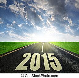2015, delantero, nuevo, año