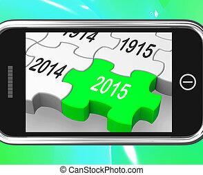 2015, en, smartphone, exposiciones, futuro planea