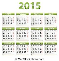 2015, español, calendario