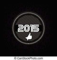 2015, färsk, fira, kort, år