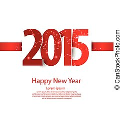 2015, färsk, lycklig, år