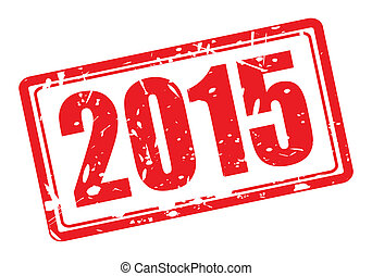 2015, francobollo, rosso, testo