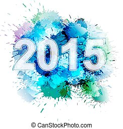 2015, frente, coloridos, esguichos
