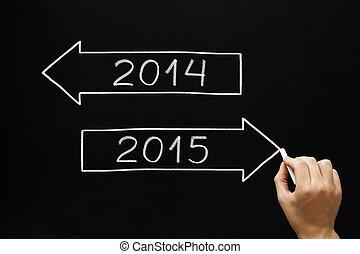 2015, gehen, voraus, jahr