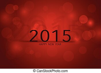 2015, glücklich, neu , year., vektor, illustration.