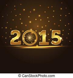 2015, gouden, presentatie, kaart, jaar