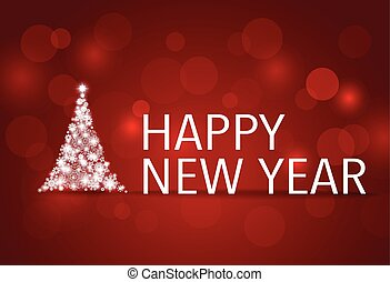2015 Happy New Year background with Christmas tree. Vector illus