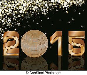 2015 Happy new year postcard